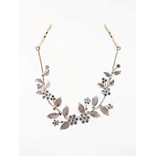 Buy John Lewis Cubic Zirconia Floral Bridal Hair Vine, Rose Gold Online at johnlewis.com