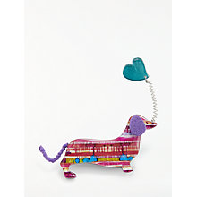 Buy One Button Sausage Dog Balloon Brooch, Multi Online at johnlewis.com