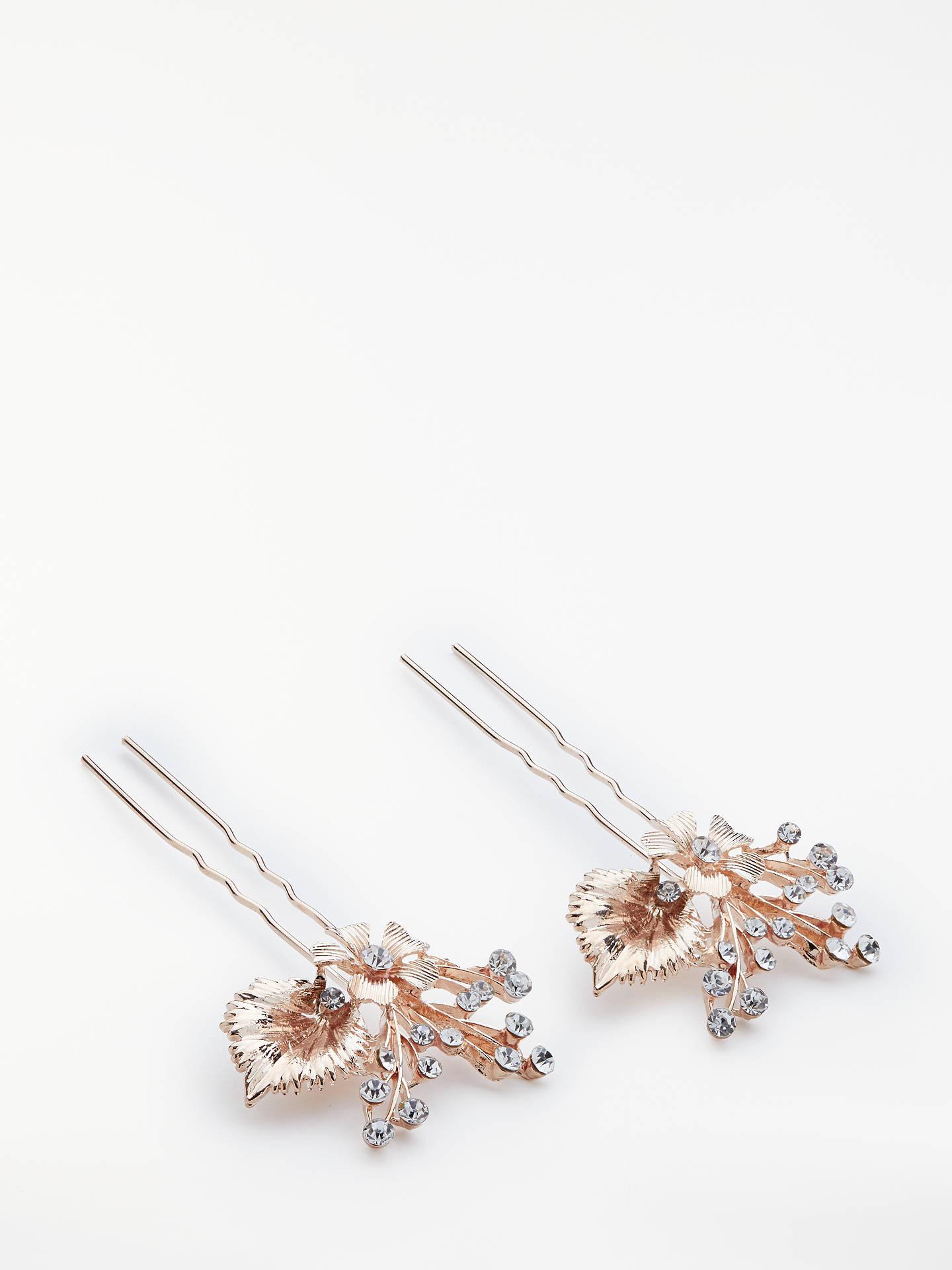 john lewis & partners cubic zirconia floral leaf bridal hair
