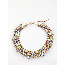 Buy John Lewis Sparkle Crystal Statement Necklace, Yellow/Multi Online at johnlewis.com