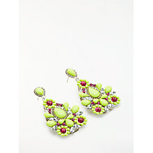 Buy John Lewis Sparkle Teardrop Earrings, Multi Online at johnlewis.com