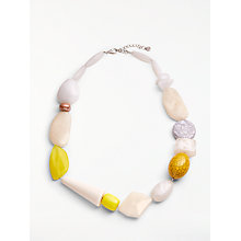 Buy John Lewis Asymmetric Bead Statement Necklace, Yellow/Multi Online at johnlewis.com