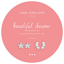 Buy Joma Sparkle Beautiful Dreamer Star Stud Earrings, Pack of 2, Silver Online at johnlewis.com