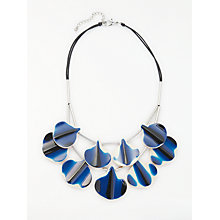 Buy One Button Two Tone Reversible Double Layer Statement Necklace, Dark Blue/Orange Online at johnlewis.com