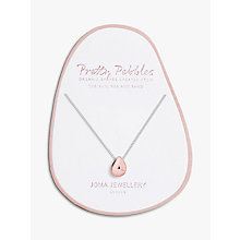 Buy Joma Pretty Pebbles Pendant Necklace, Rose/Silver Online at johnlewis.com