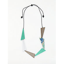 Buy One Button Abstract Triangle Necklace, Multi Online at johnlewis.com