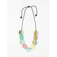 Buy One Button Curve Disc and Square Cord Necklace, Multi Online at johnlewis.com