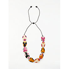 Buy One Button Long Abstract Bead Cord Necklace, Multi Online at johnlewis.com