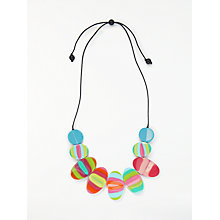 Buy One Button Bright Lozenge Necklace, Multi Online at johnlewis.com