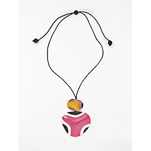 Buy One Button Long Double Pendant Cord Necklace, Multi Online at johnlewis.com