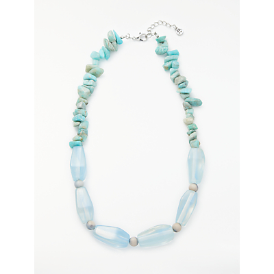 One Button Humbug Necklace, Blue