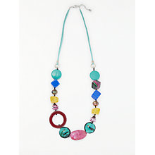 Buy One Button Mid Line Bead Necklace, Multi Online at johnlewis.com
