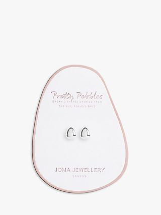 Joma Jewellery Pebble Stud Earrings, Silver