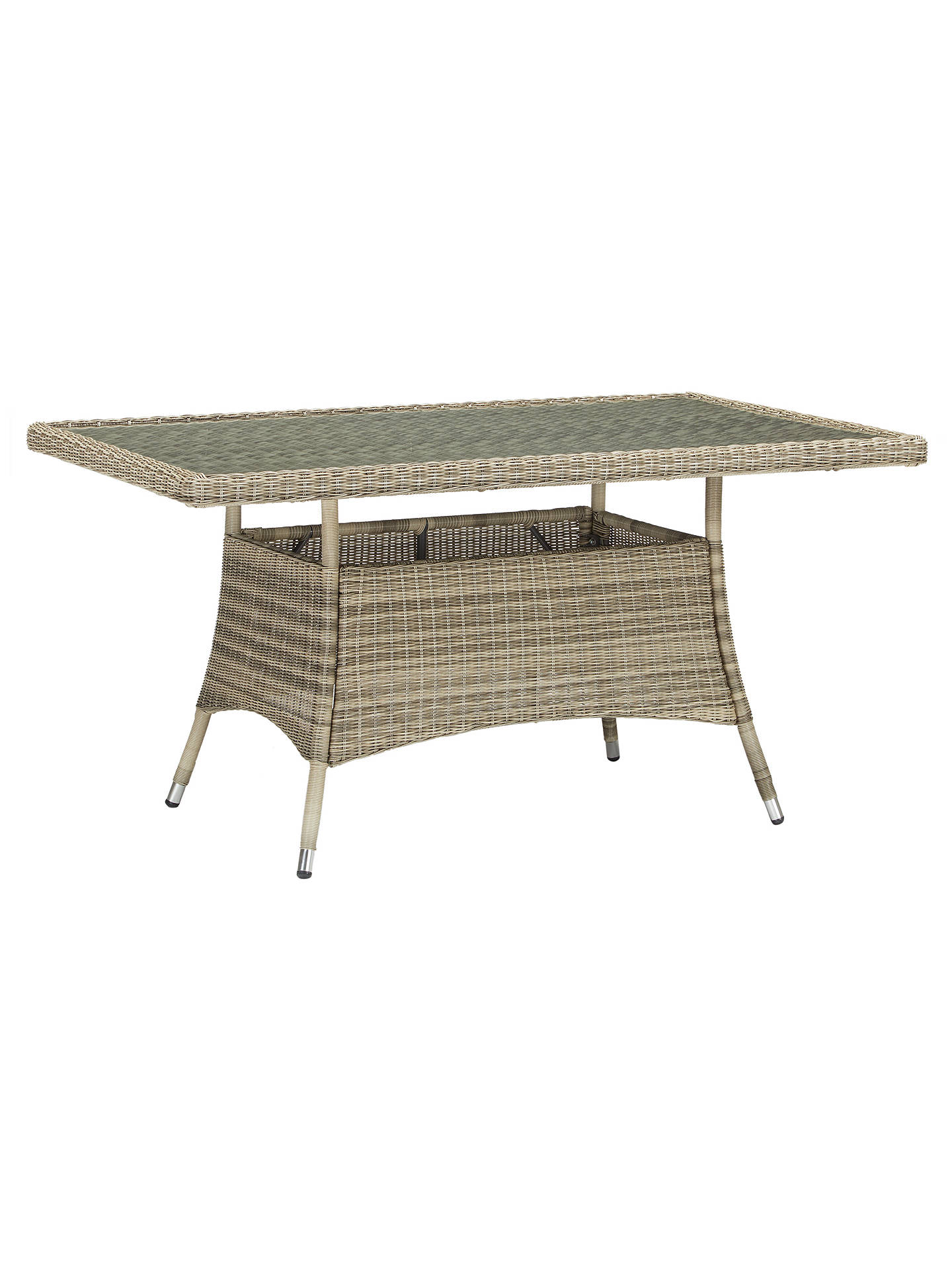 Buy John Lewis & Partners Dante 6 Seater Rectangular Garden Dining Table with 6 Chairs, Natural Online at johnlewis.com