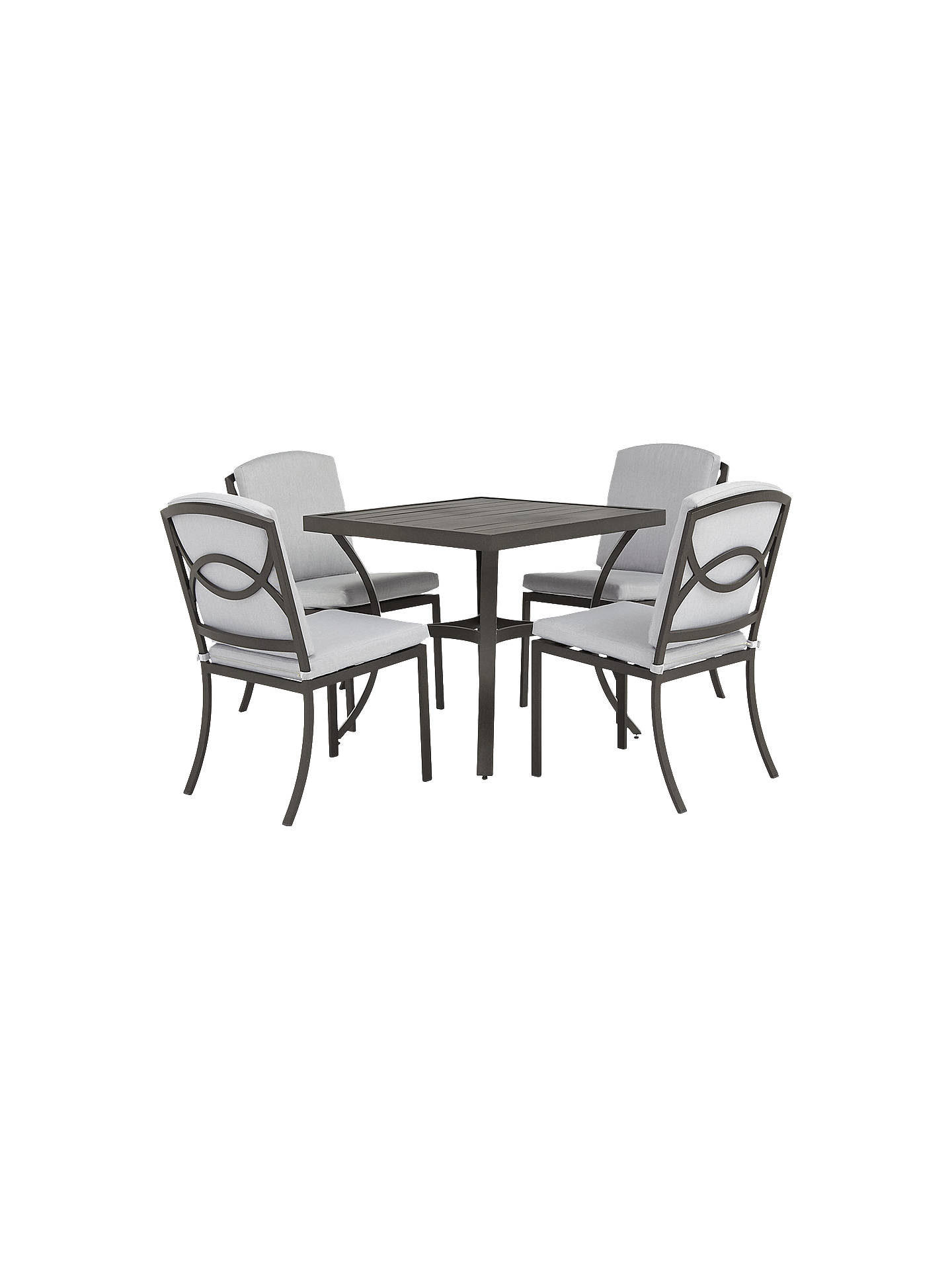 Buy John Lewis Partners Marlow Aluminium 4 Seater Dining Table And Chairs Set Black