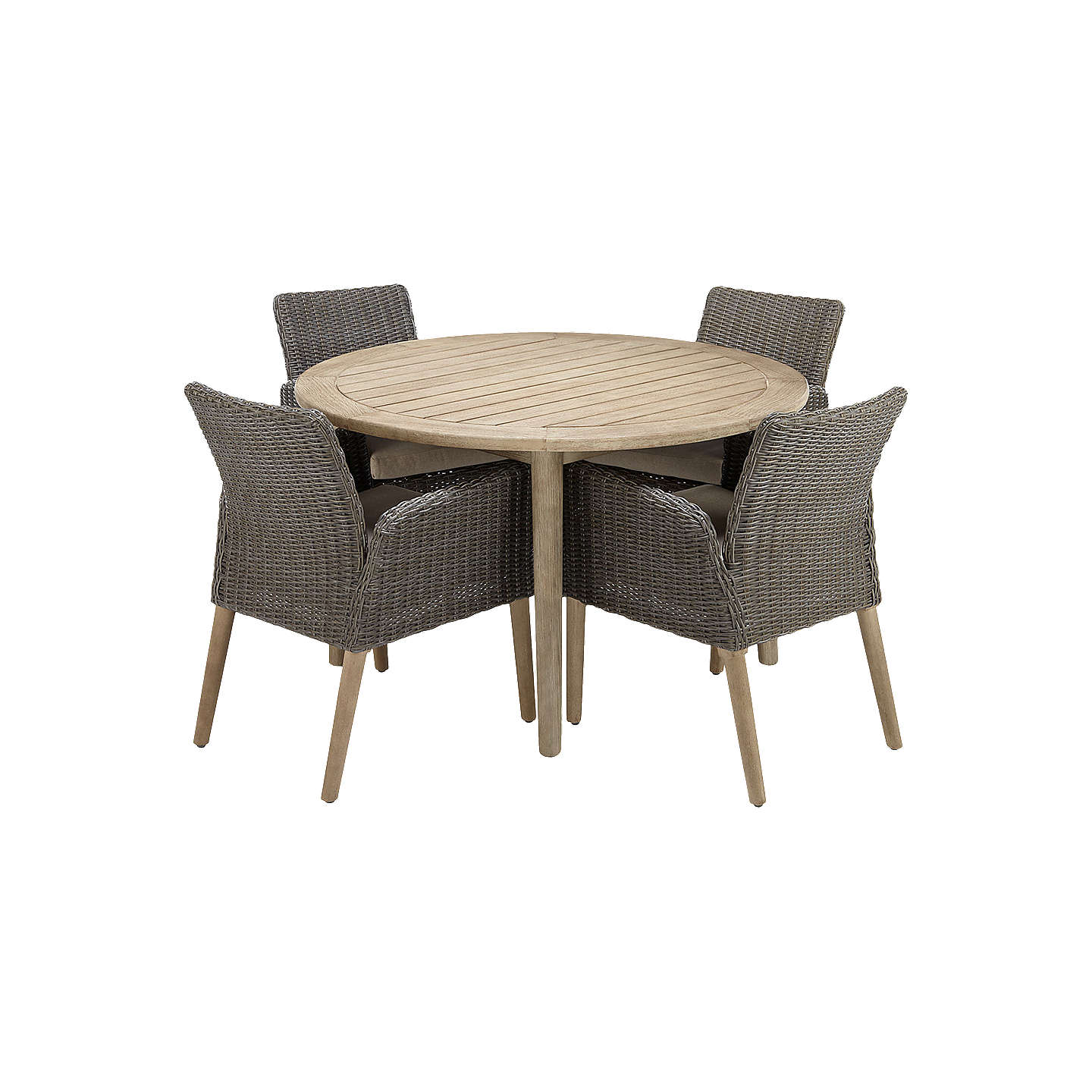 outdoor round dining table. BuyJohn Lewis Eden 4 Seater Outdoor Round Dining Table And Chairs Set, FSC-Certified I