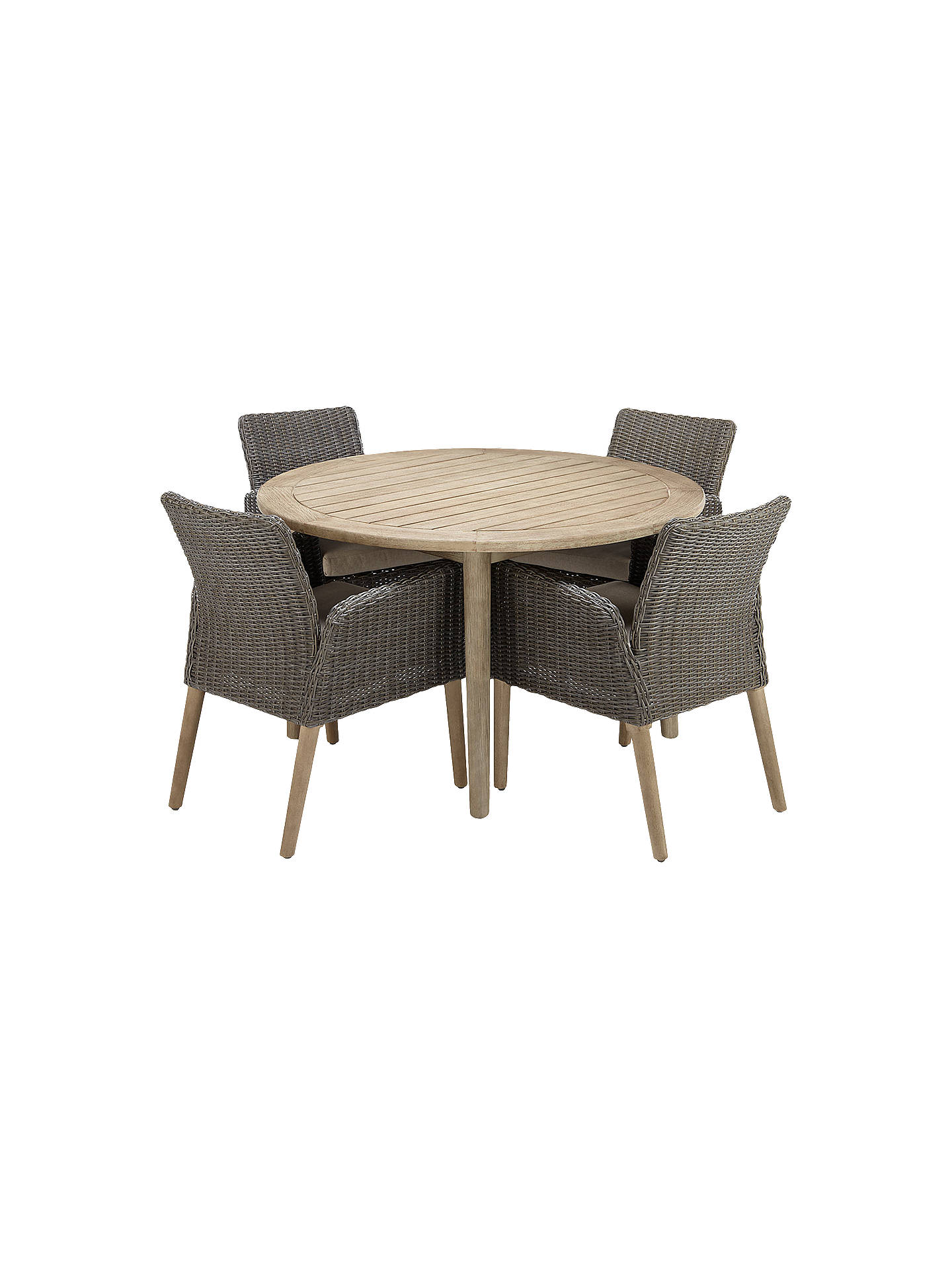 John Lewis Partners Eden 4 Seater Outdoor Round Dining Table And