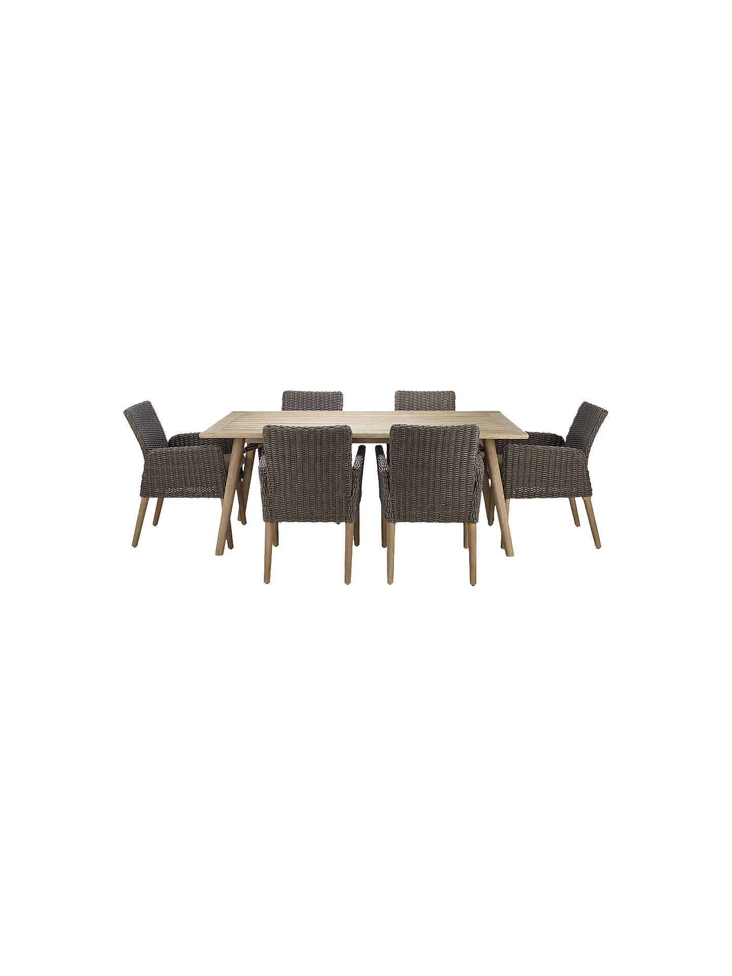 Buyjohn lewis eden 6 seater outdoor dining table and chairs set fsc certified