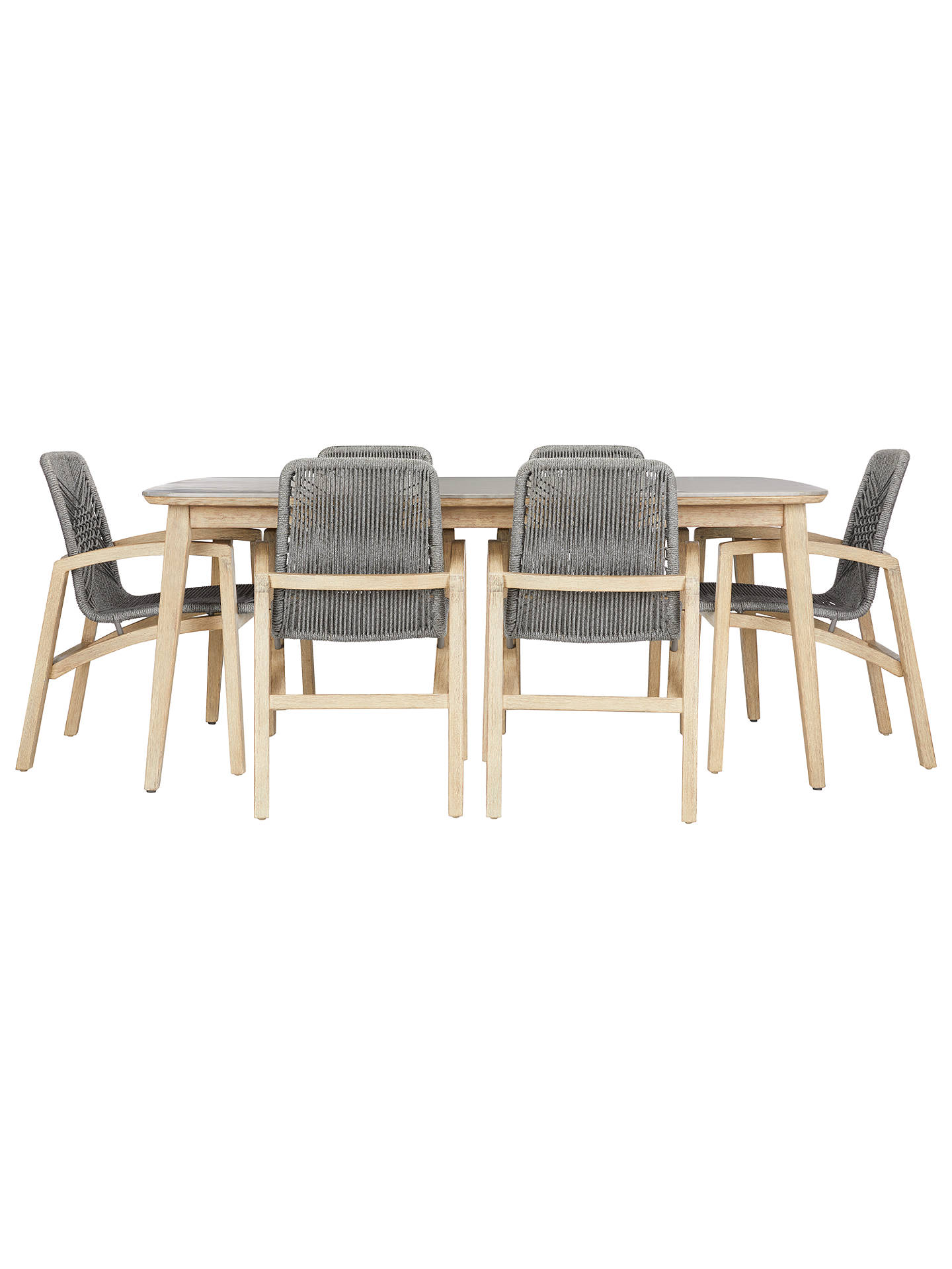 John Lewis Leia 6 Seater Rectangular Garden Table and ...