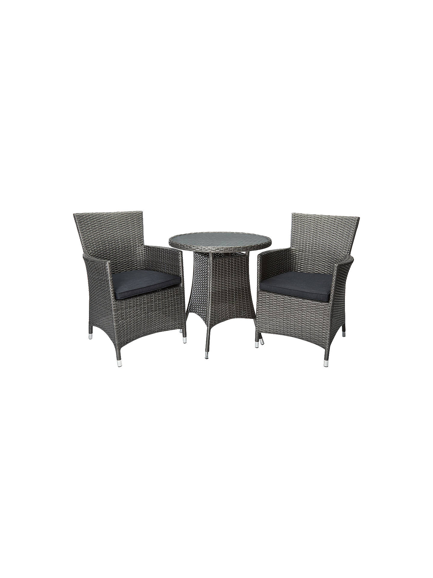 John Lewis Almeria 2 Seater Outdoor Bistro Table And Chairs Set Grey Online At