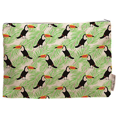 Fenella Smith Toucan and Palm Print Make Up Bag, Large