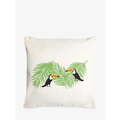 Fenella Smith Toucan and Palm Print Cushion