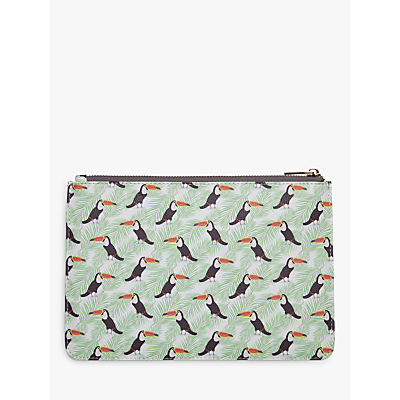 Fenella Smith Toucan and Palm Print Clutch Bag