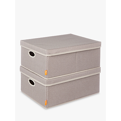 neatfreak! Harmony Twill Storage Box, Pack of 2