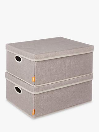 neatfreak! Harmony Twill Storage Box, Pack of 2