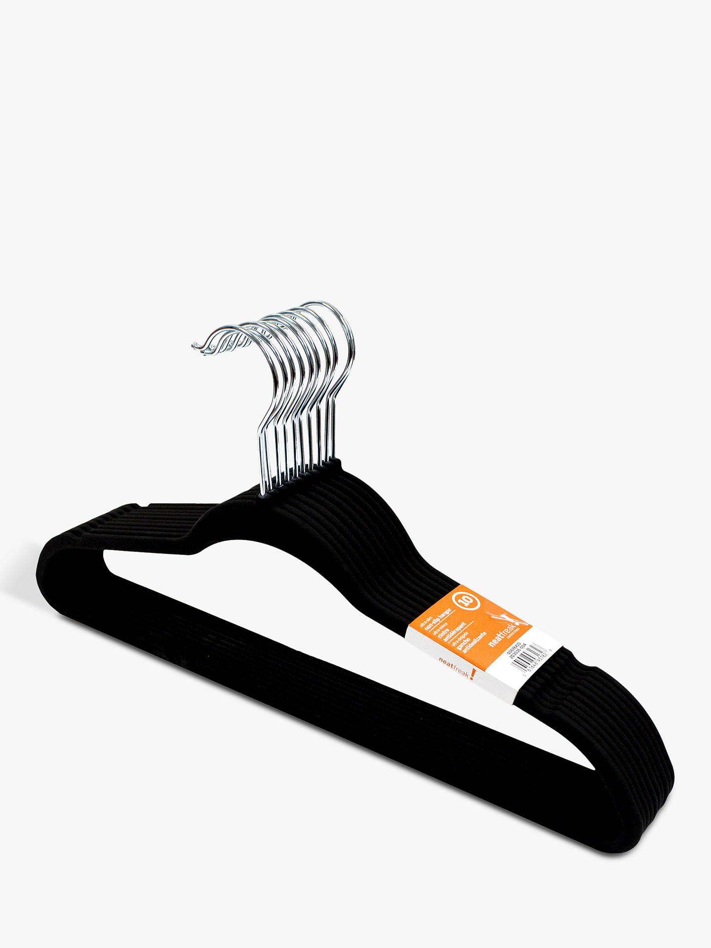 Buy neatfreak! Rubberised Hanger, Pack of 10, Black Online at johnlewis.com