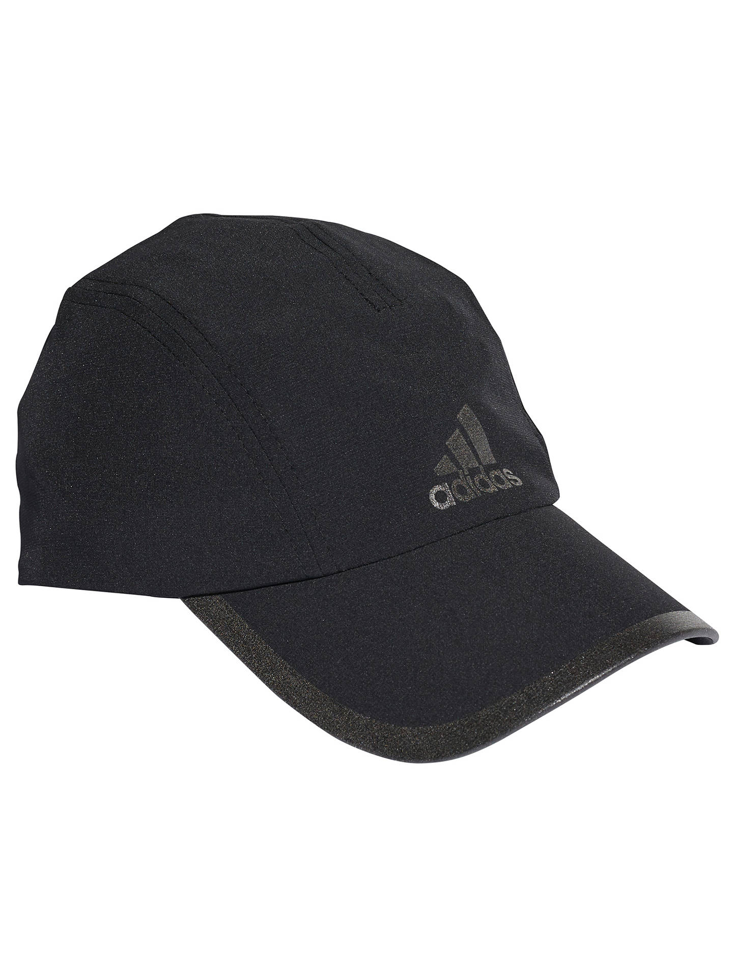 b73704199e69ab Buy adidas Climalite Running Cap, One Size, Black/Reflective Silver Online  at johnlewis ...
