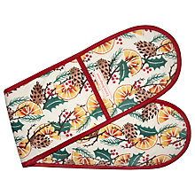 Buy Emma Bridgewater Holly Wreath and Pine Cone Double Oven Gloves Online at johnlewis.com