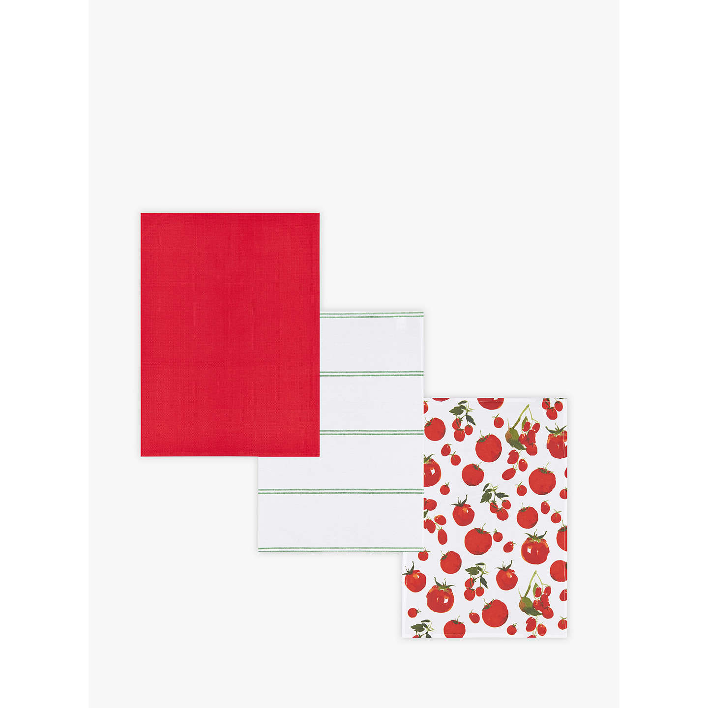 BuyJohn Lewis Tomato Tea Towels, Assorted, Pack of 3 Online at johnlewis.com