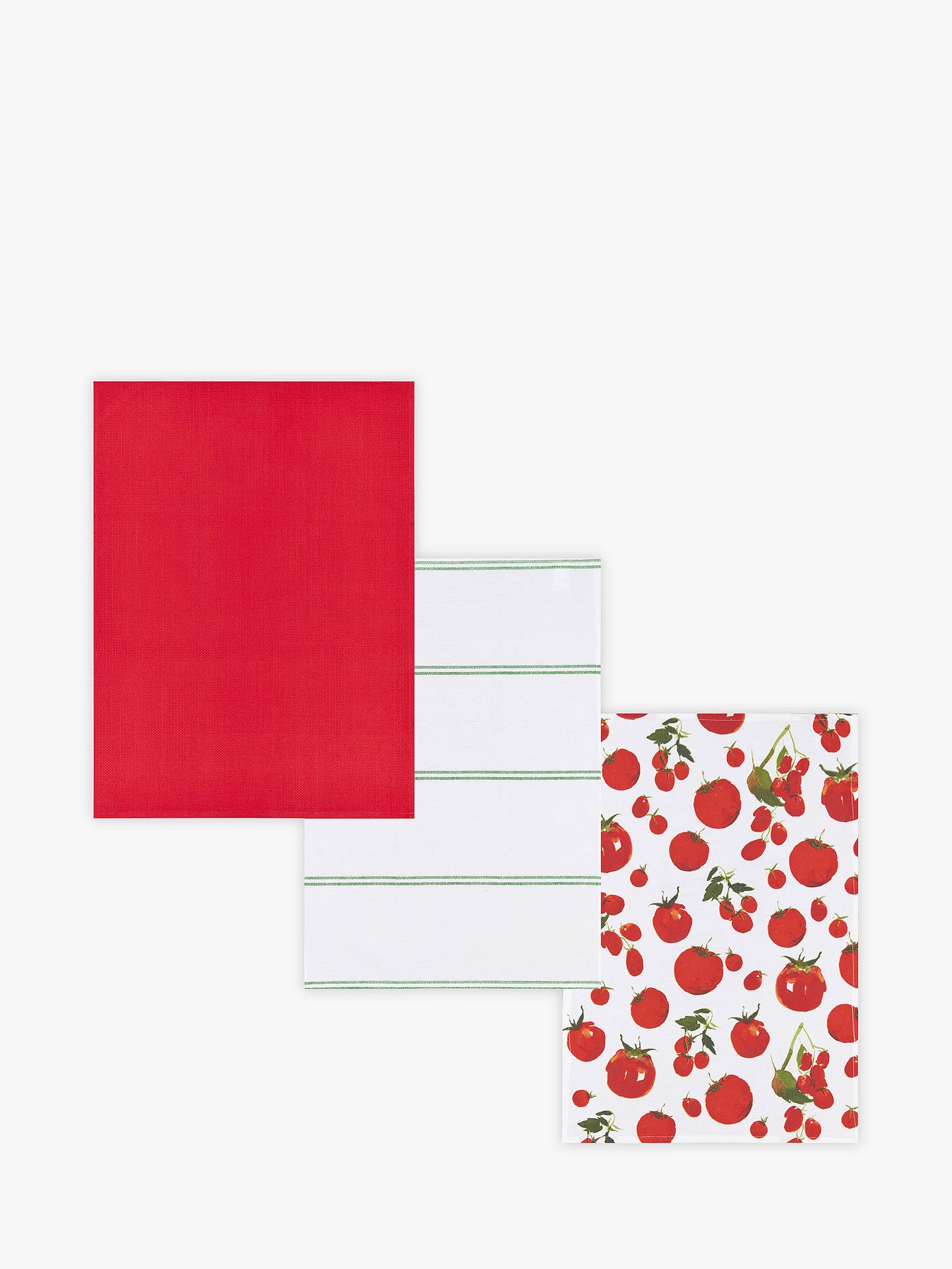 BuyJohn Lewis & Partners Tomato Tea Towels, Assorted, Pack of 3 Online at johnlewis.com