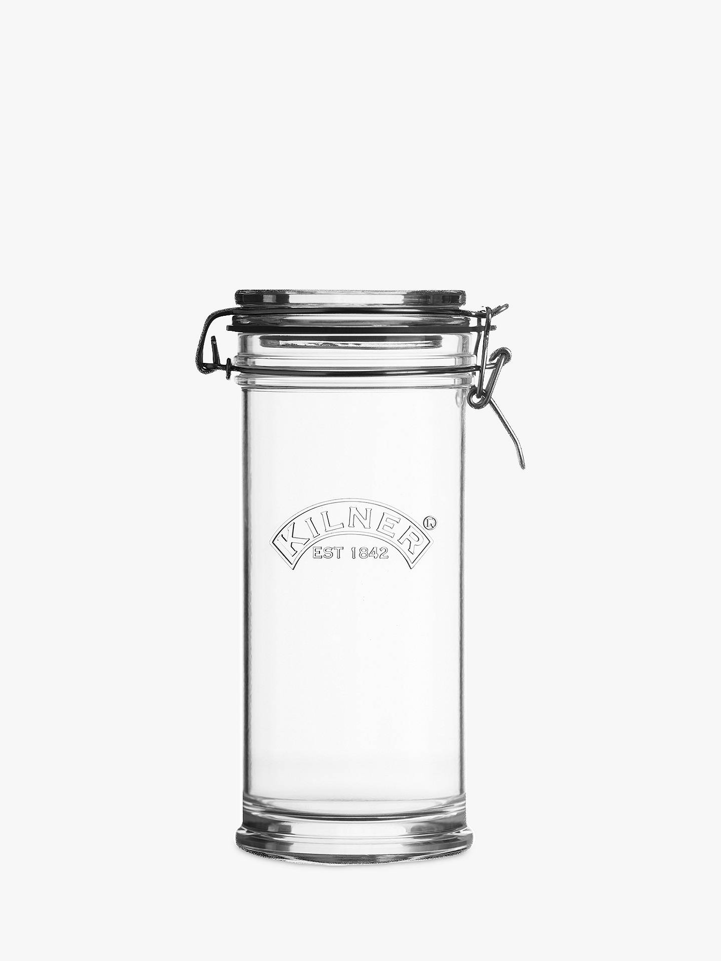 BuyKilner Signature Clip Top Storage Jar with Gift Tags, Clear, 1.05L Online at johnlewis.com