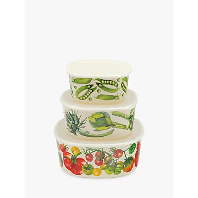 Emma Bridgewater Vegetable Garden Storage Containers, Assorted, Set of 3