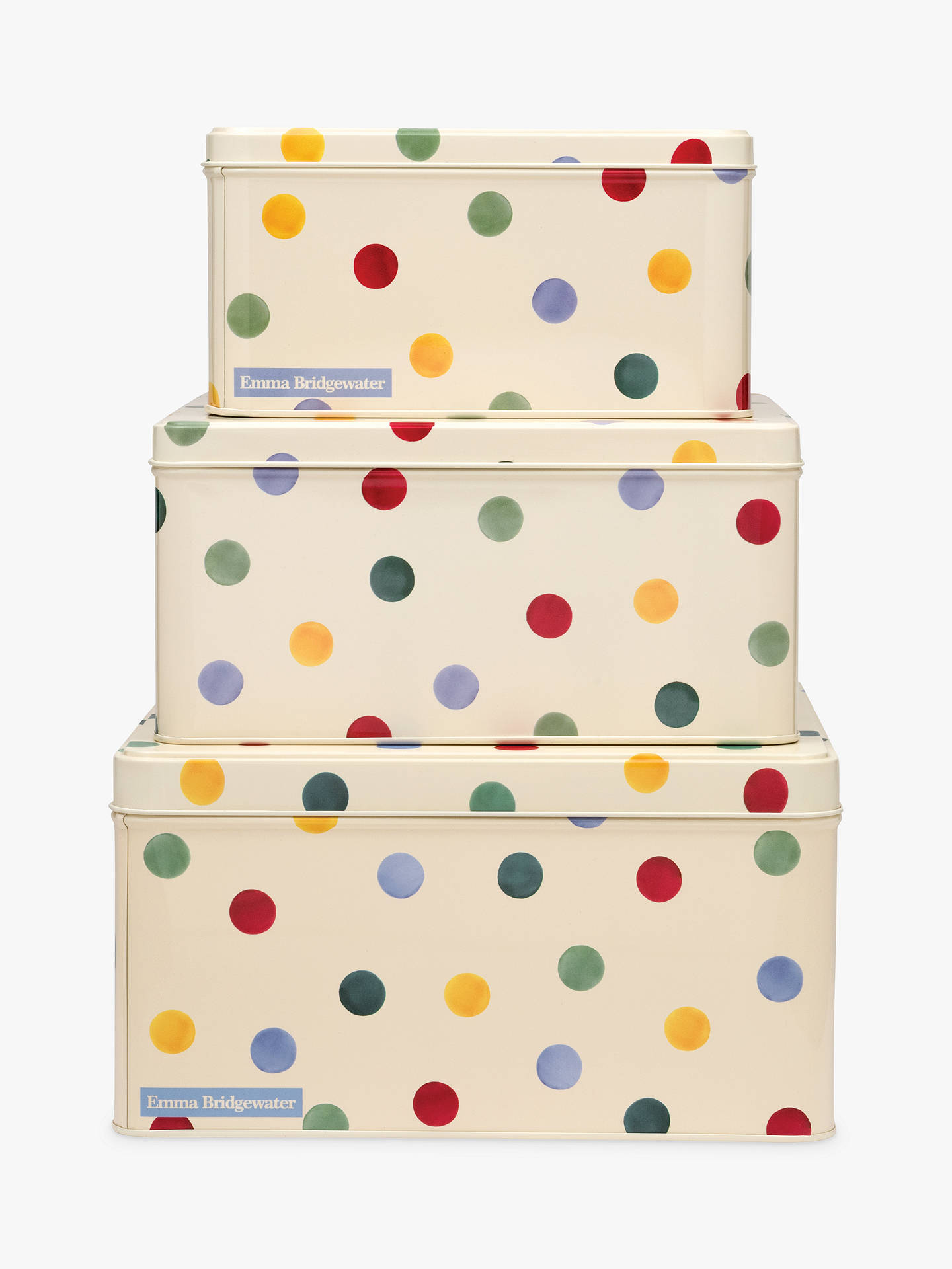BuyEmma Bridgewater Polka Dot Cake Tins, Multi, Set of 3 Online at johnlewis.com