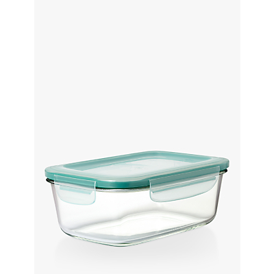 OXO Good Grips SNAP Glass Storage Container, Clear, 1.8L