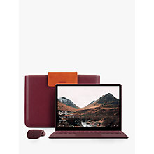 "Buy Microsoft Surface Laptop, Intel Core i5, 8GB RAM, 256GB SSD, 13.5"" PixelSense Display with Surface Arc Bluetooth Wireless Mouse and Mozo Saffiano Case Online at johnlewis.com"