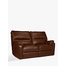 Buy John Lewis Carlisle Power Recliner Small 2 Seater Leather Sofa, Dark Leg Online at johnlewis.com