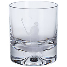 Buy Dartington Crystal Sporting Life Golf Tumbler, Clear Online at johnlewis.com