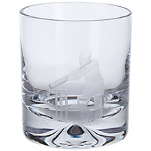 Buy Dartington Crystal Sporting Life Cricket Tumbler, Clear Online at johnlewis.com