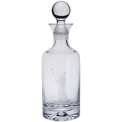 Product photo of Dartington crystal sporting life golf decanter clear