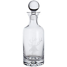 Buy Dartington Crystal Sporting Life Stag Decanter, Clear Online at johnlewis.com