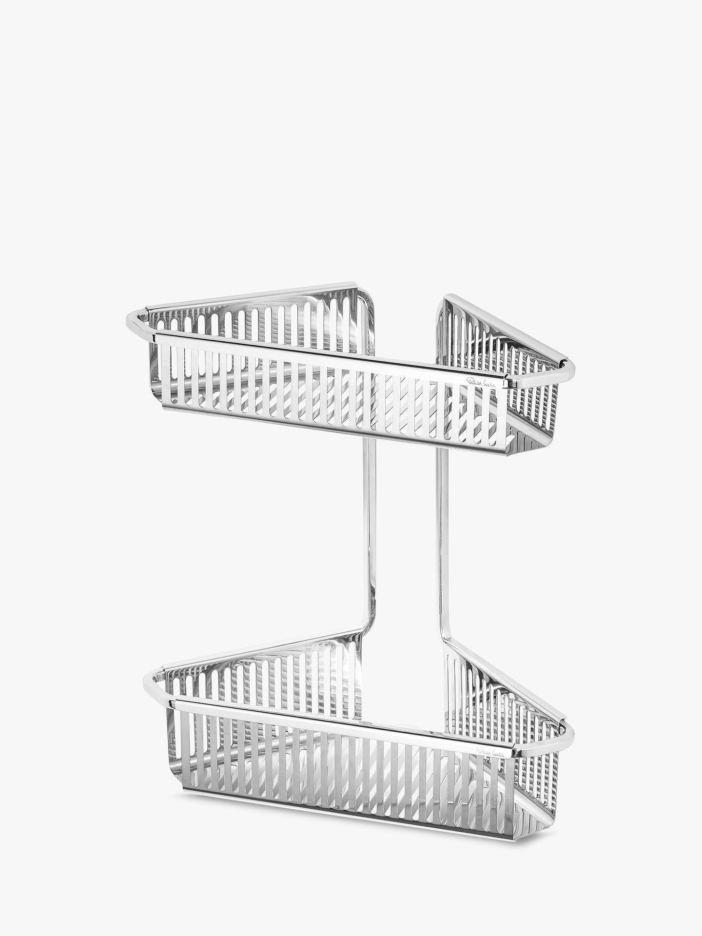 BuyRobert Welch Burford Double Corner Shower Basket Online at johnlewis.com