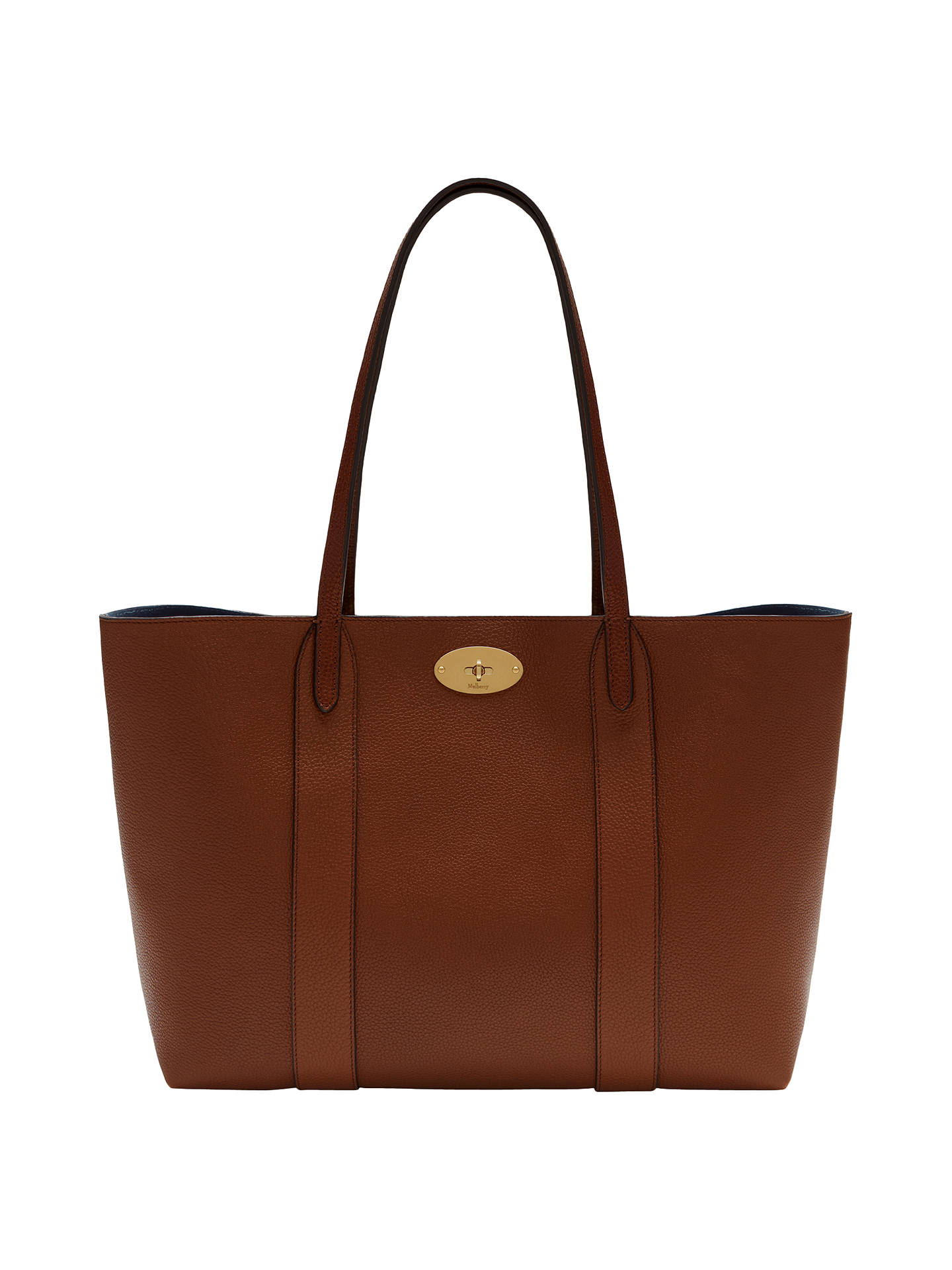 c330148a156 BuyMulberry Bayswater Leather Tote Bag, Oak Online at johnlewis.com ...