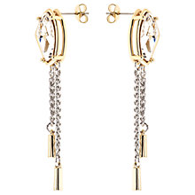 Buy Karen Millen Galactic Swarovski Crystal Chain Drop Earrings, Silver/Gold Online at johnlewis.com