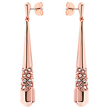 Buy Karen Millen Sparkling Swarovski Crystal Long Drop Earrings Online at johnlewis.com
