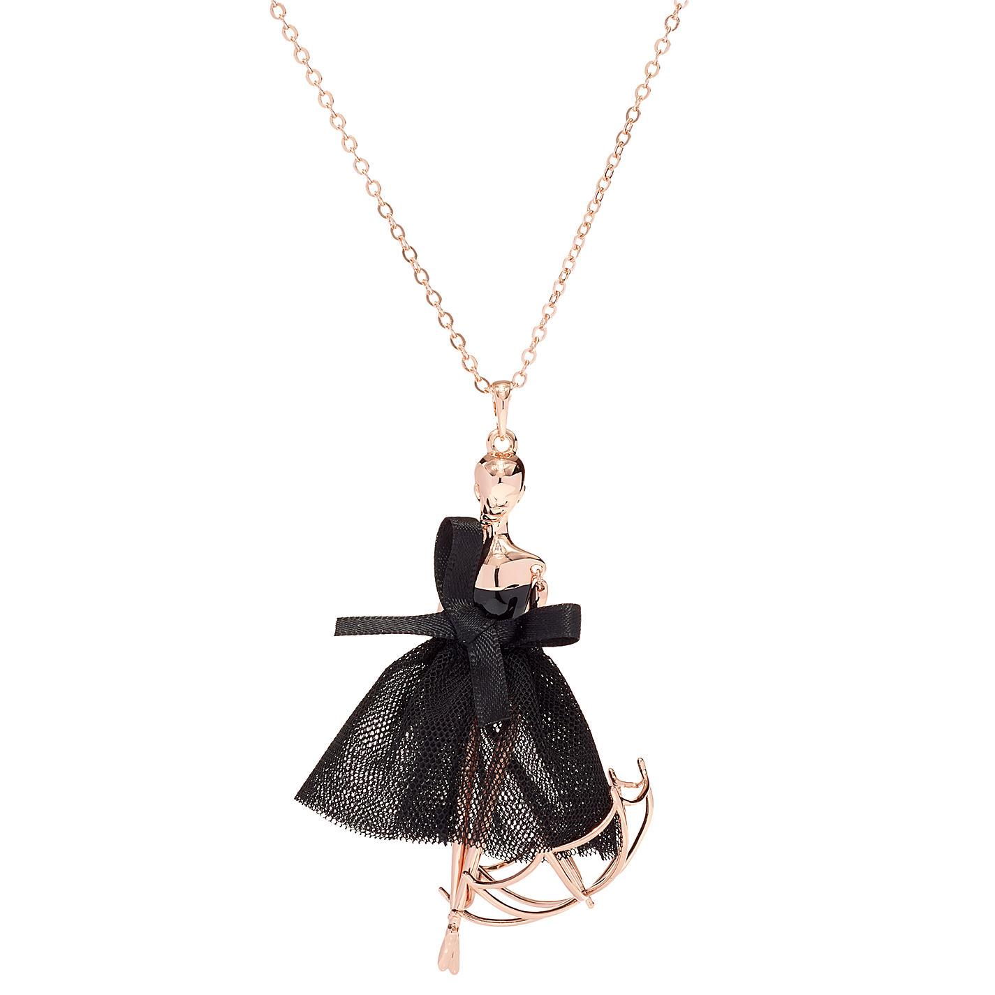 Buy ted baker ursaa umbrella ballerina pendant necklace rose gold buy ted baker ursaa umbrella ballerina pendant necklace rose goldblack online at johnlewis aloadofball Choice Image