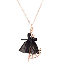 Buy Ted Baker Ursaa Umbrella Ballerina Pendant Necklace, Rose Gold/Black Online at johnlewis.com